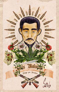 Jesus Malverde by Samolo on DeviantArt - Tattoo MAG Lettrage Chicano, Chicano Tattoos, Tattoos Skull, Arm Tattoos, Narcos Poster, Mexico Wallpaper, Bulldog Drawing, Tattoos Realistic, Folk Religion