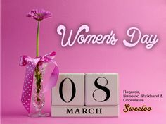 Women's Day, 8 March on Pink background with Pink Rose Happy Woman Day, Happy Women, International Womens Day March 8, South Hill Designs, Gaines, Day Wishes, 8th Of March, Mothers Love, Ladies Day