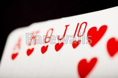 """""""Playing cards - straight flush"""" - Bar and Man Cave Decor available at Barewalls.com"""