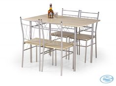 Chic Faust Dining Table 4 Chairs Dining Furniture Sets from top store Corner Dining Set, Round Dining Set, Dining Furniture Sets, Outdoor Furniture Sets, Pub Table Sets, Laminated Mdf, Upholstered Bench, Hazelwood Home, Wood And Metal