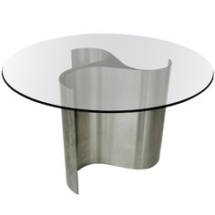 French Dining or Center Table by Patrice Maffei, model Comète