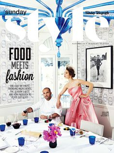 "Sunday Style - A Maticevski ""Subduction Gown"" from the upcoming collection alongside Chef Guillaume Brahimi: food & fashion both things we love!!!  tonimaticevski.com"