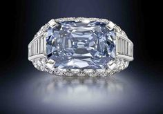 "A rare blue diamond ring . The fancy deep blue diamond is set in a Bulgari ""Trombino"" ring, made circa Most Expensive Diamond Ring, Most Expensive Engagement Ring, Diamond Engagement Rings, Bling Bling, Ring Verlobung, Colored Diamonds, Blue Diamonds, Diamond Jewelry, Diamond Cuts"
