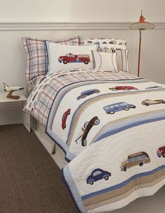 Love these cars & trucks for a little boys room