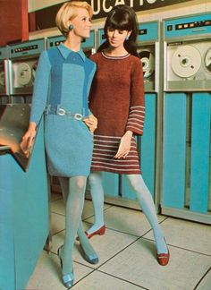 Groovy computer with two groovy gals
