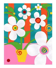 Another great find on #zulily! Dancing Flowers I Art Print #zulilyfinds