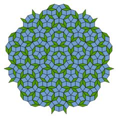 Penrose tiling - Wikipedia - would make a cool hand-sewn quilt.