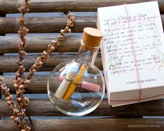 Message in a bottle - I hope one of these finds it's way to my bathtub :)