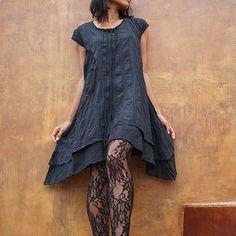 Collection Artistique ... 'Soleil et pluie' robe plissée M, L (1404)