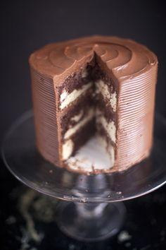 Chocolate Marble Cake via @zoebakes