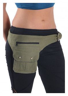 CANVAS POCKET BELT, fanny pack, money belt, GEKKO utility belt, HIP BAG, bum bag