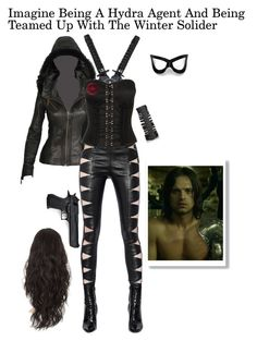 """Hydra Agent"" by gone-girl ❤ liked on Polyvore featuring Yves Saint Laurent, Forever 21, Marvel Comics, Rick Owens, Masquerade, imagine, marvel, hydra, marvelimagine and HydraAgent"