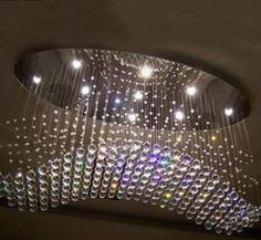 Free Shipping Oval Curtain Wave Modern Chandelier Crystal Lamp Living Room Light SizeL1000