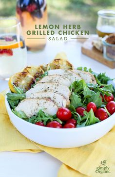 Grilled Chicken Salad gets an easy summer upgrade! @simplyorganic