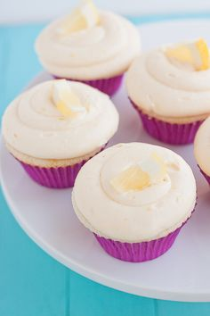 Meyer Lemon Cupcakes with Lemon Curd & Cream Cheese Frosting