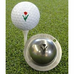 Tin Cup Tracy's Tulip Golf Ball Marking Stencil, Steel by Tin Cup. $19.95. Patented. The perfect golf ball marking solution. Award winning design. Made in the USA. 100% Stainless Steel. Made in the USA Award Winning Design 80 plus designs available
