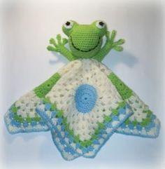 Frog Lovey Crochet Pattern - via @Craftsy