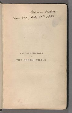 Now that's an association copy! Melville's copy of Natural History of Sperm Whale, 1839.