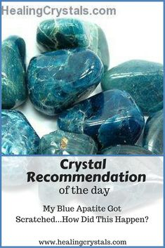 How did my Blue Apatite get scratched? #crystals #healingcrystals #apatite