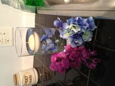 Floating candles with flowers.