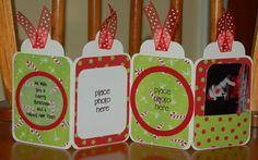 Christmas Accordion Tag Card - idea on Keller's Creations website