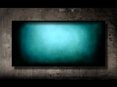 How to paint a vibrant turquoise background FAST and EASY - YouTube