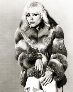 Debbie Harry aka Blondie in Fur.