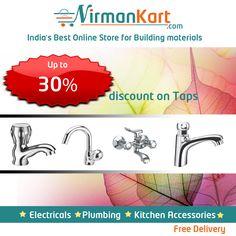 Buy taps online at www.nirmankart.com  30% discount on #Taps.