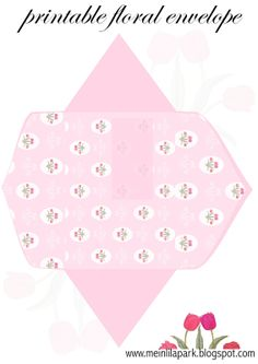 Free printable pink floral envelope