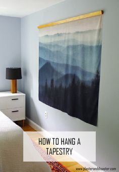 How to hang a tapestry so it doesn't look like a college dorm - Plaster & Disaster