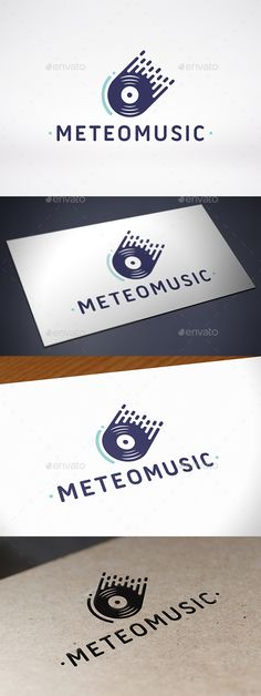 Meteor Music Records Logo Template — Vector EPS #store #software • Available here → https://graphicriver.net/item/meteor-music-records-logo-template/10245012?ref=pxcr