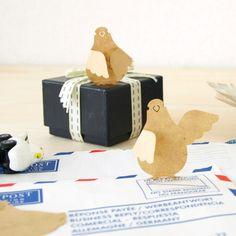 まとめのインテリア - ハトがちょこんと立つふせん。 Sticky Notes PIGEON