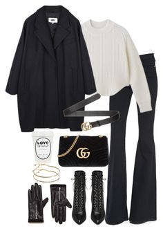 """""""Untitled #4454"""" by theeuropeancloset ❤ liked on Polyvore featuring Frame, MM6 Maison Margiela, Yves Saint Laurent, Gucci and ASOS"""
