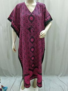 Boho Kaftan Muumuu Dress Pink Black Ethnic Print Cotton Kimono Caftans Mogul Interior,http://www.amazon.com/dp/B00JTW9XYO/ref=cm_sw_r_pi_dp_Zsrvtb1R9F76RSDP