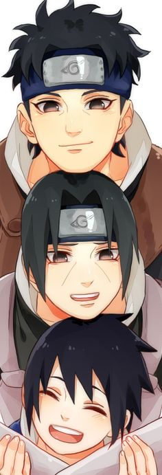 The uchiha boys... Shisui, Itachi and sasuke