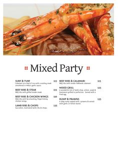 Mixed Party Halaal Beef Rib Steak, Beef Ribs, Mixed Grill, Tender Steak, Surf And Turf, Lamb Chops, Calamari, Garlic Sauce, Grilling