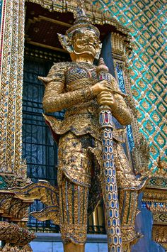 Thai Temple Guard by Deborah Thompson with Pin-It-Button on 500px