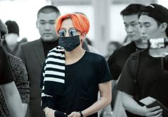 G-Dragon at Incheon Airport going to Malaysia (150724)