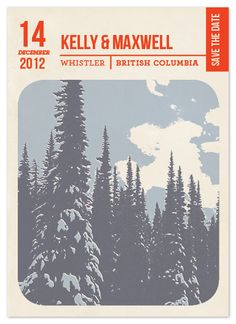 Save the Date Cards - Lift Ticket