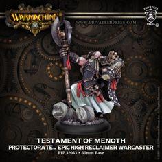 Testament of Menoth #WARMACHINE #Protectorate #Menoth #PrivateerPress #warcaster #miniatures #wargames #steampunk