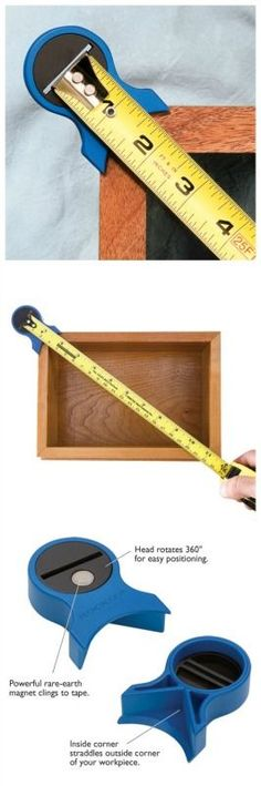 .  Check website with best way to #learn #woodworking here: http://ewoodworking.ninja . Square Check for Tape Measures. http://Rockler.com woodworking tools
