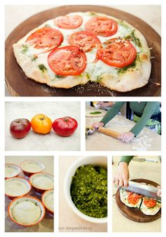Fresh Tomato and Basil Pesto Pizza | The Organic Kitchen Blog and Tutorials