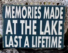 Lake House Signs, Custom Lake House Decor, Memories Made At The Lake Wooden Plaque, Lake Gifts, Beach House River Mountains Cabin Cottage Decor