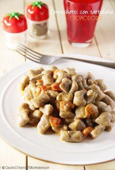 My Ricettarium: Gnocchetti con tartufata e pomodorini