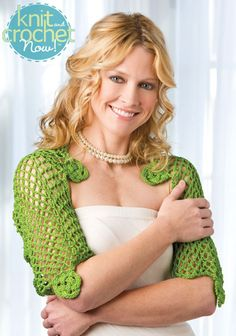 Free Crochet Pattern Download -- This Kerry Shrug, designed by Jennifer E. Ryan, is featured in episode 402 of Knit and Crochet Now! TV. Learn more here: www.knitandcrochetnow.com