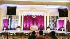 Cute Hall Decorations, Wedding Stage Decorations, Flower Decorations, Engagement Stage Decoration, Marriage Decoration, Wedding Stage Design, Wedding Designs, Indoor Wedding, Event Decor