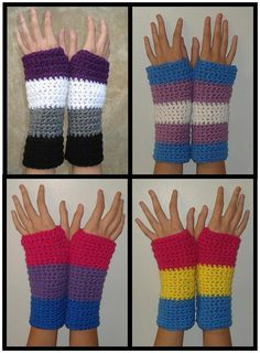 Pride Flag Armwarmers by StarsSpikes on Etsy, $16  Not my sort of thing, but I know someone...:)