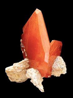 Wulfenite - Boulmaden, Morocco Size: 2,5cm