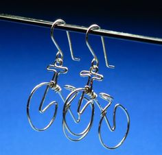 SILVER BICYCLE earrings  cycling  mountain by CecileStewartJewelry, $29.95