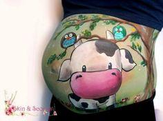 Embarazo: Pancitas pintadas con la forma del bebé | Blog de BabyCenter